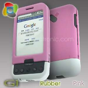 HTC Google G1 Premium 2Tone Rubber Pink/White Cover