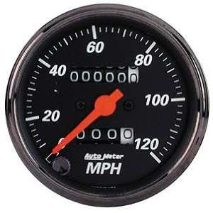 Auto Meter 1496 Black 3 1/8 120 mph Mechanical Speedometer with Trip