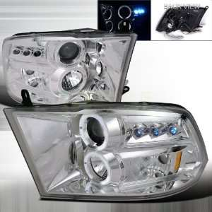 2009 20012 Dodge Ram Halo Led Projector Headlights Chrome
