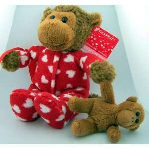 9 Valentines Day Heart Toy Teddy Bear Monkey Plush W Baby