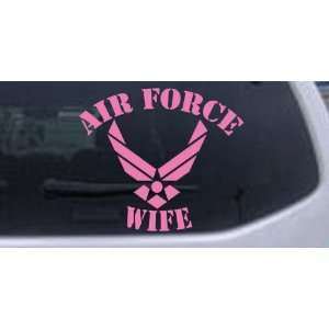 Pink 22in X 24.9in    Air Force Wife Military Car Window Wall Laptop