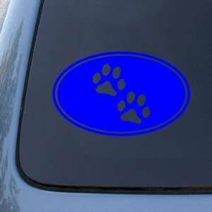 Dog Cat   Vinyl Decal Sticker #1543  Vinyl Color Blue Automotive