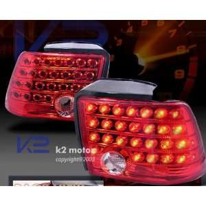 Ford Mustang Led Tail Lights Red LED Taillights 1999 2000
