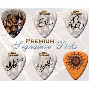 6 x Alice In Chains Signature Double Sided Guitar Picks