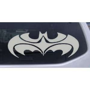 Silver 50in X 19.2in    Tribal Batman Car Window Wall Laptop Decal