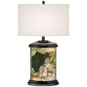 Victorian Garden Giclee Art Base Table Lamp
