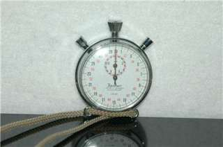 Hanhart Lever 7 Jewels 1/10 Second Pocket Stop Watch