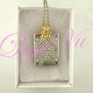 CARD NECKLACE USB FLASH DRIVE MADE WITH SWAROVSKI ELEMENTS