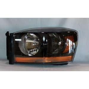 Dodge Ram Pickup (w/ Black Bezel) Head Light Left Hand TYC 20 6748 90