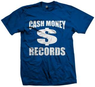 CASH MONEY RECORDS T SHIRT MONEY WAYNE YOUNG WEEZY LIL RAP NEW HIP HOP