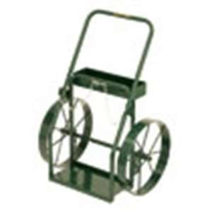 Wide Continuous Handle Cylinder Hand Truck with 18 Inch Steel Wheels