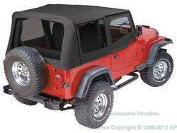 97 06 JEEP WRANGLER REPLACEMENT SOFT TOP + UPPER SKINS
