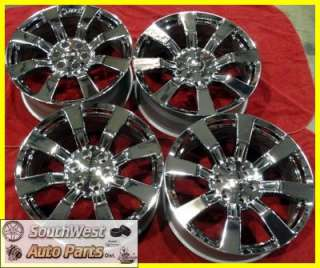 22 09 10 11 GMC SIERRA YUKON CHROME TAKE OFF WHEELS FACTORY OEM RIMS