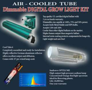 Digital 1000 watt HPS GROW LIGHT COOLTUBE cool tube