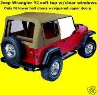 88 95 soft top Jeep YJ Wrangler HALF DOORS SPICE TINTED