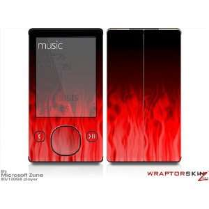 Zune 80/120GB Skin Kit   Fire Red plus Free Screen Protector by