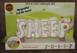 PBS WORD WORLD SHEEP MAGNETIC LETTERS PULL ME APART SPELLING NEW 3