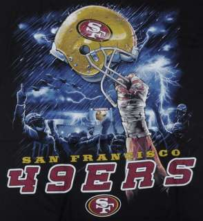 49ers Sky Helmet Large T Shirt NFL San Francisco SF Football BABA