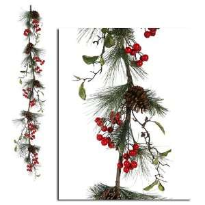 Red Berry & Pine Cone Artificial Christmas Garland