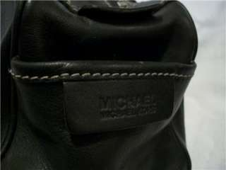 MICHAEL KORS Black Leather Satchel HandBag Domed Bag