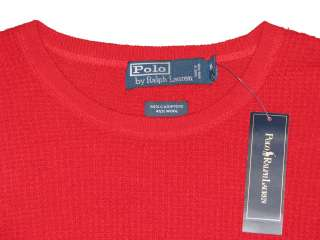 265.00 NWT POLO RALPH LAUREN MENS RED WOOL CASHMERE KNIT SWEATER SIZE
