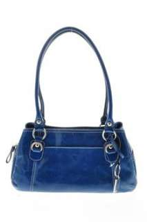 Giani Bernini NEW Leather Satchel Medium Handbag Blue Bag