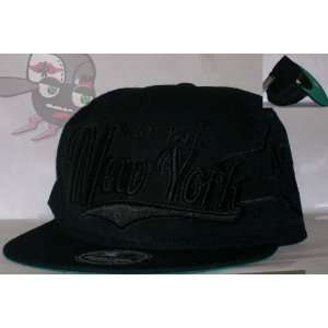 New York All Black Everything Series Snapback Hat Cap