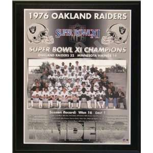 1976 Oakland Raiders NFL Football Super Bowl 11 XI