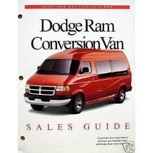 1998 Dodge Ram Conversion Van Sales Guide