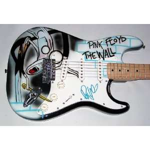 Waters Autographed Signed Pink Floyd Airbrush Guitar