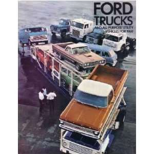 1969 FORD LIGHT DUTY TRUCK Sales Folder Litertaure Piece