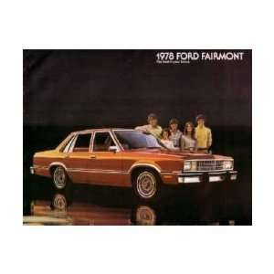 1978 FORD FAIRMONT Sales Brochure Literature Book Piece
