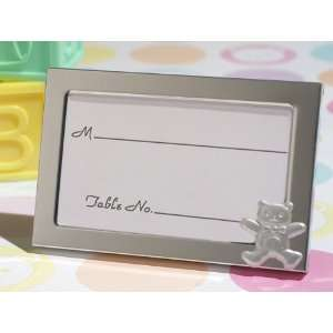 Cute And Cuddly Teddy Bear Baby Shower Place Card Frame
