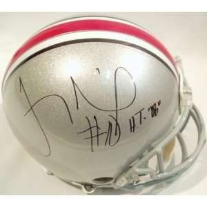 Troy Smith Signed Ohio State Riddell ProLine Authentic