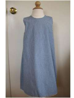 NWOT TRISH SCULLY Navy White Gingham Check Sheath Dress 5 Made in the