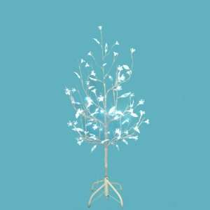 Lit White Artificial Christmas Twig Tree   Pure White Flower Lights