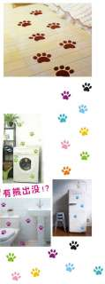 6X Cute Puppy Dog Paw Emblem Room Floor Vinyl Decal Sticker DIY Car