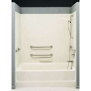 58018 Bisque Tub Walls High Gloss ADA Tub Wall Kit 30 D x 60 W HA 58