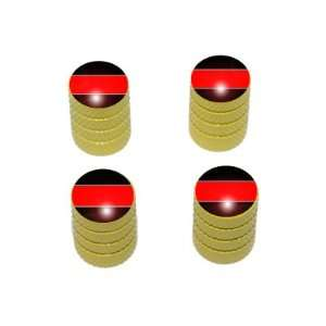 Thin Red Line   Firemen Tire Rim Valve Stem Caps   Yellow