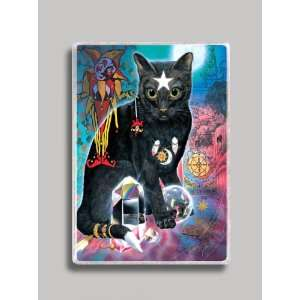 Black Magic Cat Refrigerator Magnet