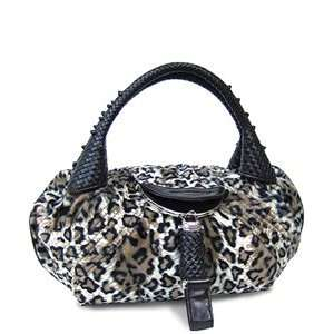 Spy Bag Made of Leopard Print Faux Fur