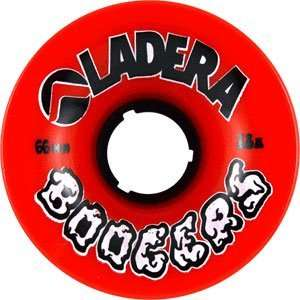 Ladera Boogers 66mm 78a Red Skateboard Wheels (Set Of 4