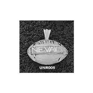 Nevada Wolf Pack Sterling Silver NEVADA Football