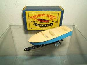 MATCHBOX MOKO LESNEY NO.48a METEOR SPORTS BOAT/TRAILER