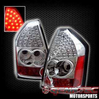 05 06 07 CHRYSLER 300 LED TAIL LIGHTS CHROME HOUSING TAIL LAMPS