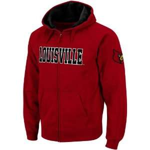 Louisville Cardinals Red Classic Twill II Full Zip Hoodie