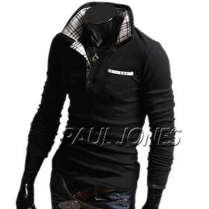Korean Stylish Men Casual Slim Fit Shirt Hoodie Simple Style dress PJ