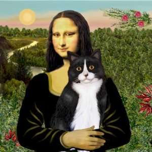 Mona Lisa   Am SH black and white cat Refrigerator Magnet