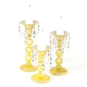 Antique Style Easter Glass Pillar Candle Holders 10