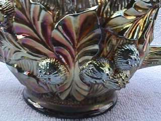 Northwood Acorn Burrs Carnival Glass Spooner